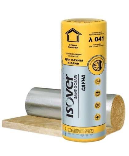 Минеральная вата Isover Sauna 50*1200*12500 мм 15 м.кв