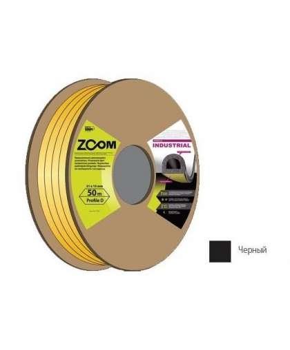 Уплотнитель Zoom Industrial D гаражный 21*17 мм черный 50 м