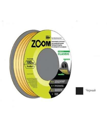 Уплотнитель Zoom Industrial Classic P черный 9*5,5 мм 100 м