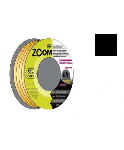 Уплотнитель Zoom Industrial D промышленный 12*10 мм черный 50 м