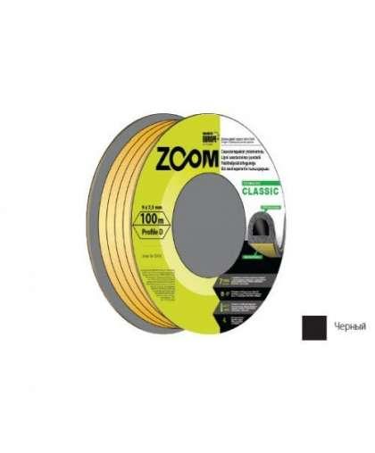 Уплотнитель Zoom Industrial Classic D черный 9*7,5 мм 100 м