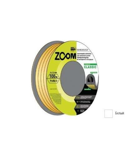 Уплотнитель Zoom Industrial Classic D белый 9*7,5 мм 100 м