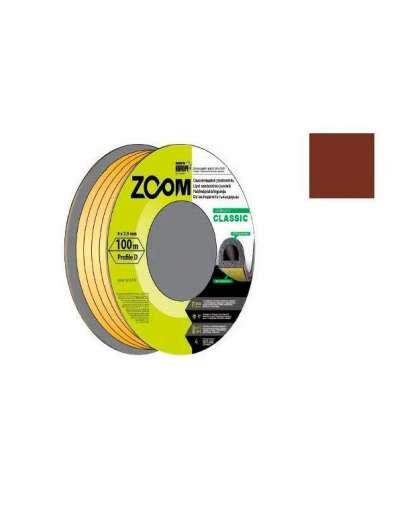 Уплотнитель Zoom Industrial Classic P коричневый 9*5.5 мм 100 м