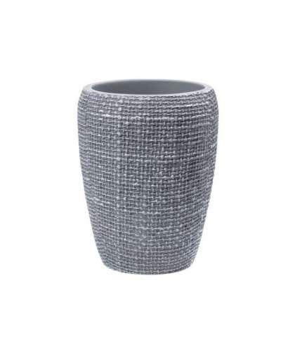 Стакан косметический Ridder Tessuto Light Grey 2153107