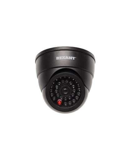 Муляж внутренней купольной камеры видеонаблюдения с  вращающимся объективом и  мигающим красным светодиодом Rexant