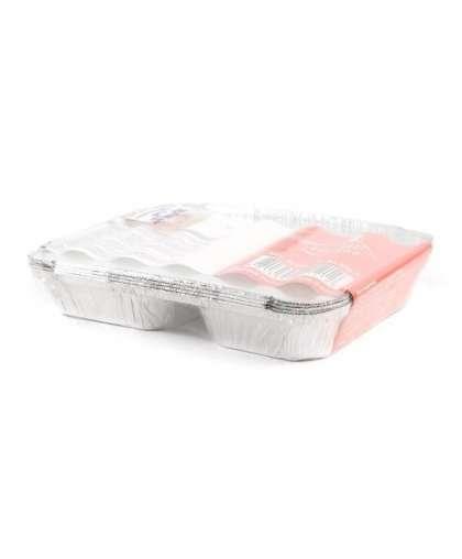 Набор блюд для запекания Home Line арт. BSPM2L&Lids-5 код 121212 одноразовые с крышками 5 шт