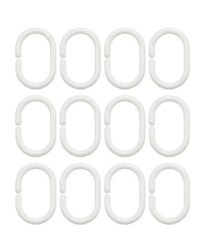 Кольца для шторок 91200 белые 12 шт, Bisk