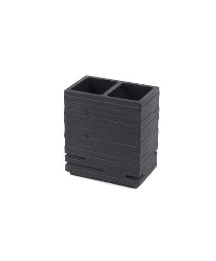 Стакан косметический Brick 22150210 черный, Ridder