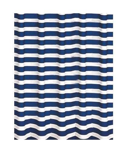 Штора для ванной комнаты PEVA 180*200 см Marine 06891 синий/белый