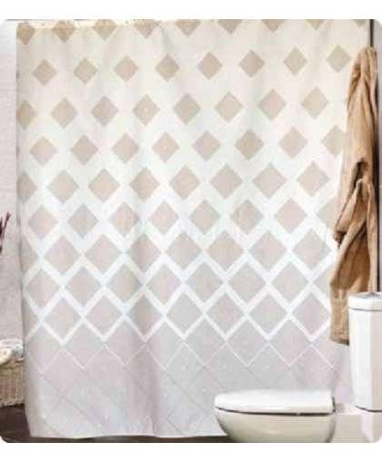 Штора для ванной комнаты 180*200 см Ibiza бежевый, Miranda