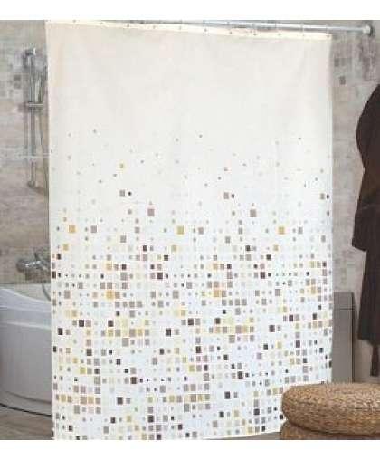 Штора для ванной комнаты 180*200 см Efes бежевый, Miranda