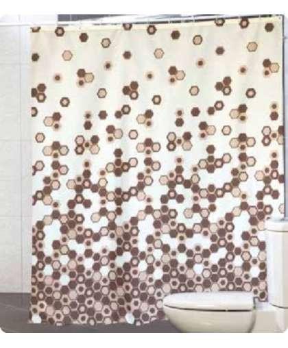 Штора для ванной комнаты 180*200 см Troy бежевый, Miranda