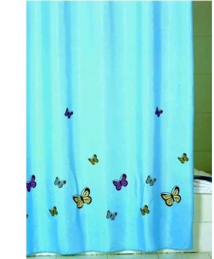 Штора для ванной комнаты 200*200 см Blue butterfly SCID031P, Iddis
