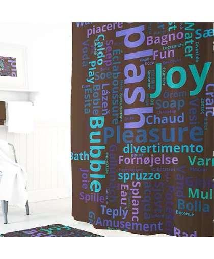 Штора для ванной комнаты 180*200 см Tropikhome Splash/Word Cloud полиэстер без колец