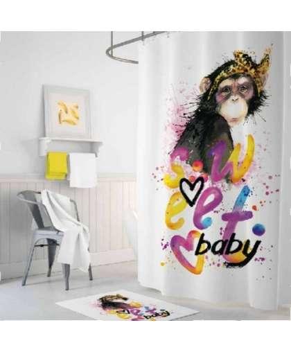 Штора для ванной комнаты 180*200 см Tropikhome Sweet Baby полиэстер без колец