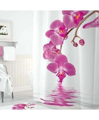 Штора для ванной комнаты 180*200 см Tropikhome Orchid полиэстер без колец