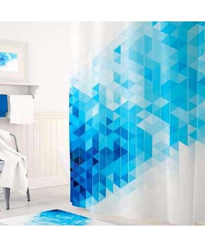 Штора для ванной комнаты 180*200 см Tropikhome Blue Squares без колец