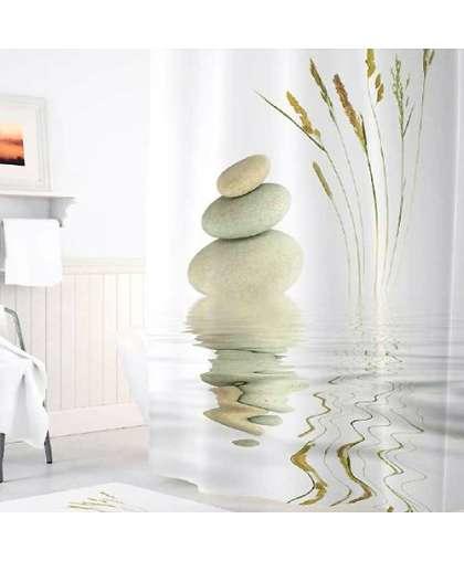 Штора для ванной комнаты 180*200 см Tropikhome Stone and Grass без колец