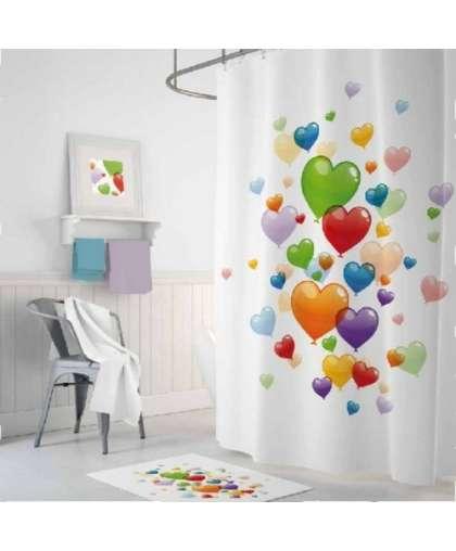 Штора для ванной комнаты 180*200 см Tropikhome Heart Baloons без колец