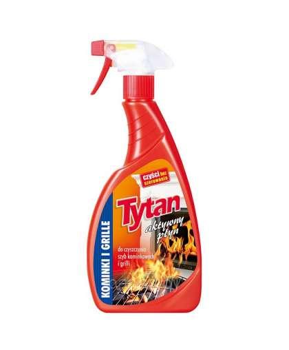 Жидкость для чистки каминных стекол и гриля спрей 500 г, Tytan