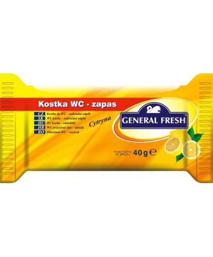 Сменный блок для унитаза General Fresh WC Kostka лимон