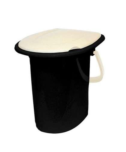 Ведро-туалет 16л  Белый ротанг