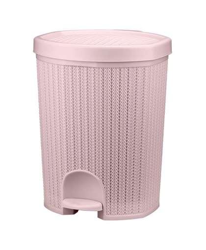 Корзина для мусора Вязание 18 л с педалью Чайная роза