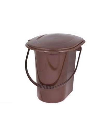 Ведро-туалет 18 л коричневый М7619
