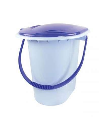 Ведро-туалет 18 л голубое М 1316