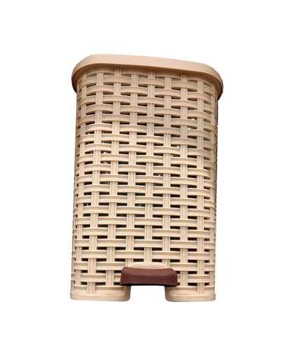 Корзина для мусора 12 л арт.01053R, код 681226 с педалью, Dunya Plastik