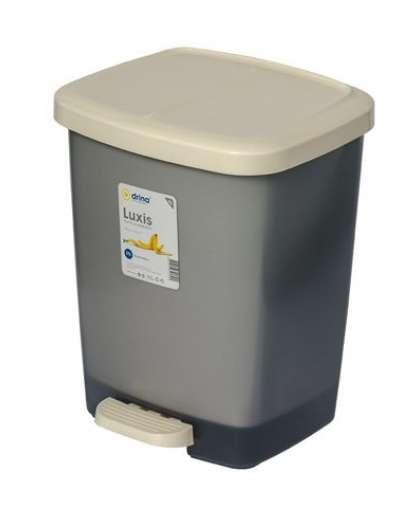 Контейнер для мусора с педалью Luxis (Люксис) 25 л (комплект), DRINA