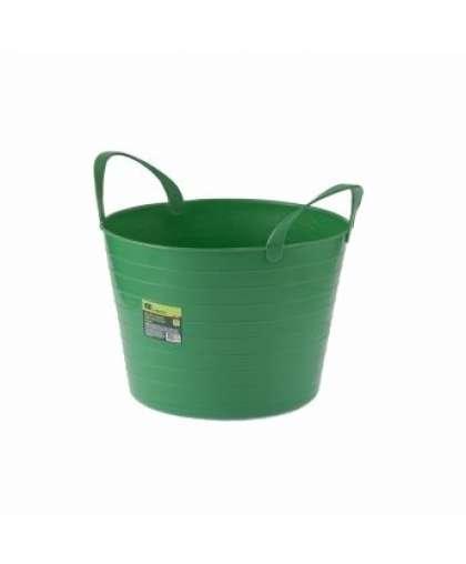 Ведро пластмассовое 14 л Сибртех 67501 зеленое