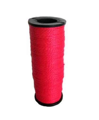 Шнур нейлоновый строительный 50 м (красный)