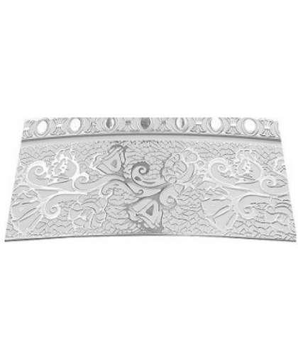 Бленда Lm Decor Кружево 7 см серебро/белый