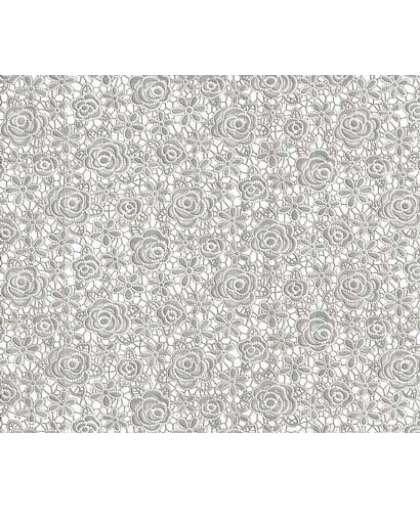 Скатерть ажурная Plastima Pontelambro Felicita it to metallic silver 1.4 м