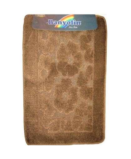 Коврик для ванной комнаты Economic 55*90 см коричневый, Banyolin