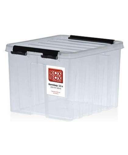 Контейнер универсальный с крышкой прозрачный 2,5 л, Rox Box