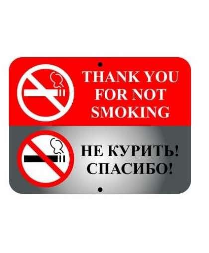 Знак оповещательный 005 Не курить 310*410*1 мм