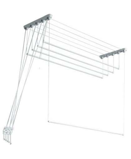 Сушилка для белья потолочная Comfort Alumin алюминиевая 1.3 м 5 прутьев