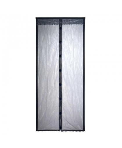 Сетка-штора на дверь противомоскитная Help 80004 с магнитами и крепежом 45*210 см 2 шт