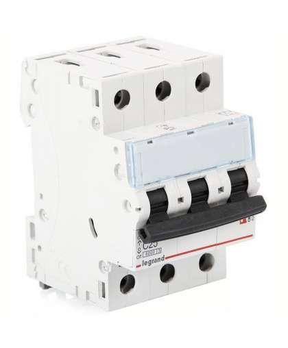 Автоматический выключатель Legrand TX3 3P C 16A 6kA 3M 404056