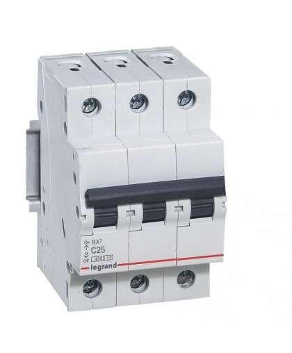Автоматический выключатель 419710 RX3 3P C 25A 4.5kA 3M,  Legrand