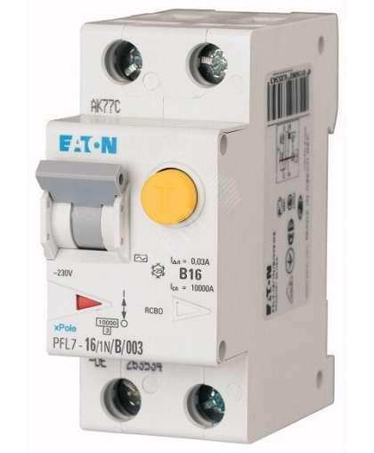 Дифференциальный автомат Eaton PFL7 1P+N 25А С 30мА 10кА 2М 263549