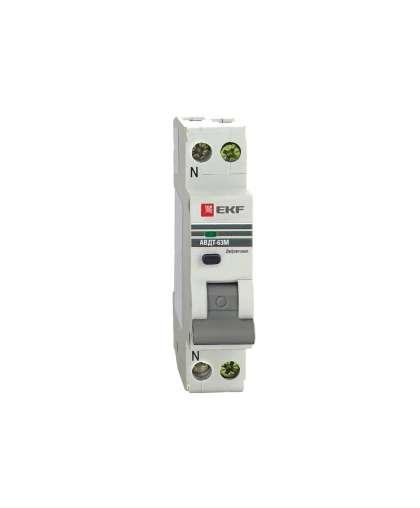 Дифференциальный автомат EKF АВДТ-63М 16А (C) 30mA тип А 6кА 1M