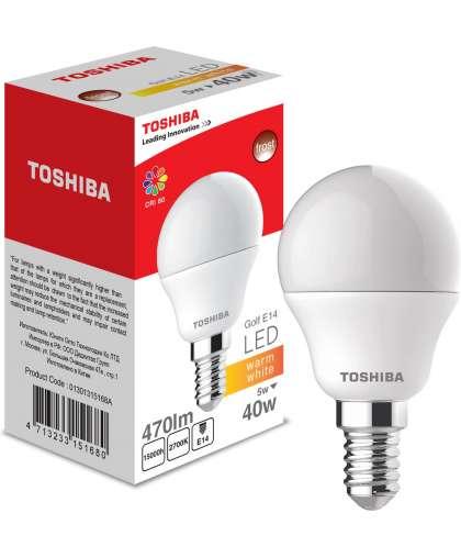 Лампа светодиодная 5W 470LM E14 2700K 40W, Toshiba
