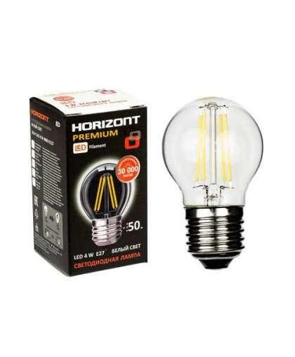Лампа Horizont LED-F G45 4W 4000K E27 филаменты