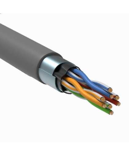Кабель витая пара F/UTP кат. 5E 100МГц 4 пары PVC INDOOR 1м серый GENERICA BC1-C5E04-311-305-G
