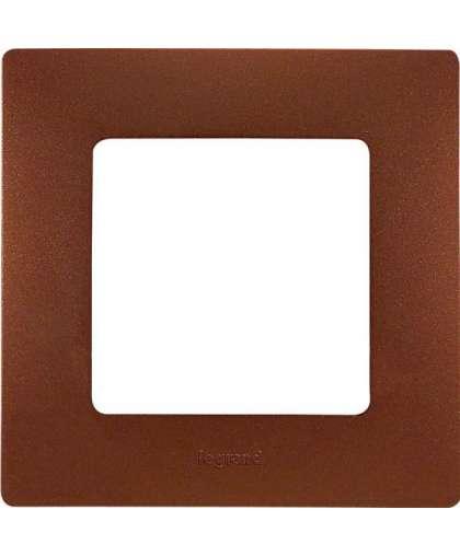Рамка Etika 1 пост 672571 какао, Legrand