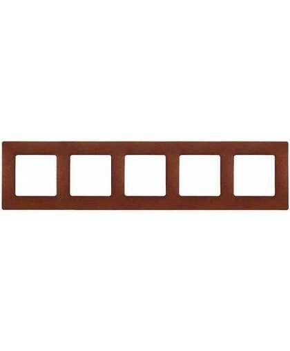 Рамка Etika 5 постов 672575 какао, Legrand