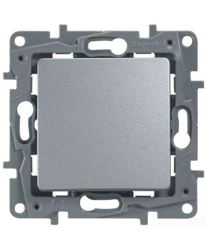 Выключатель Etika 1 клавиша без подсветки 672405 алюминий, Legrand